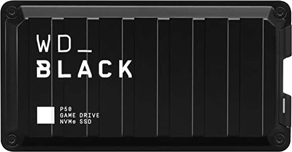 WD_Black P50 Game Drive SSD, 1TB, Read speeds 2000MB/s, USB 3.2 Gen 2x2, Type C & Type A Compatible, 5Y