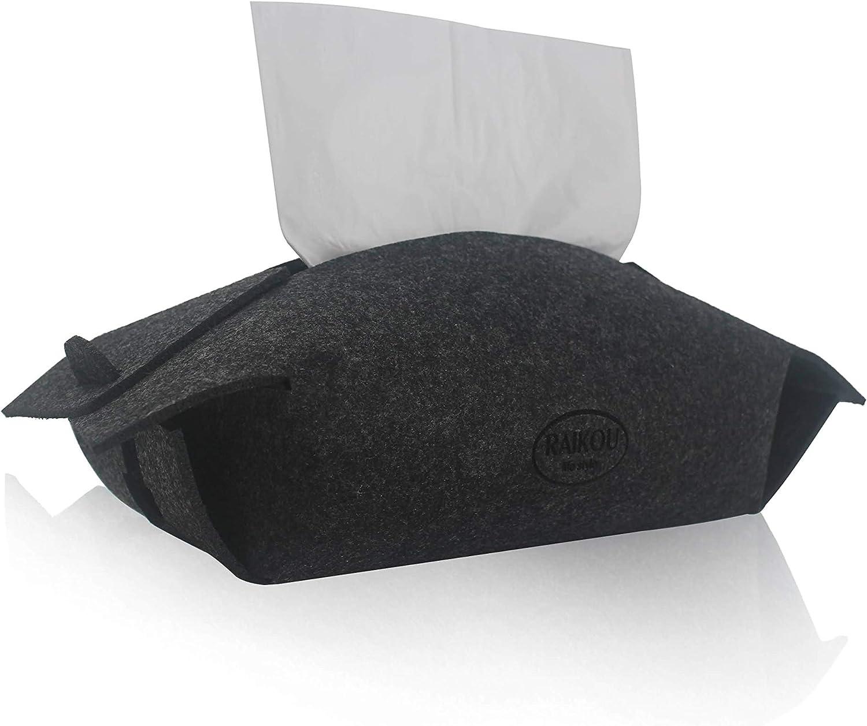 Anthracite RAIKOU Bo/îte de mouchoirs en Feutre pour mouchoirs /à mouchoirs en Forme de Kleenex Box Robuste 100/% Feutre