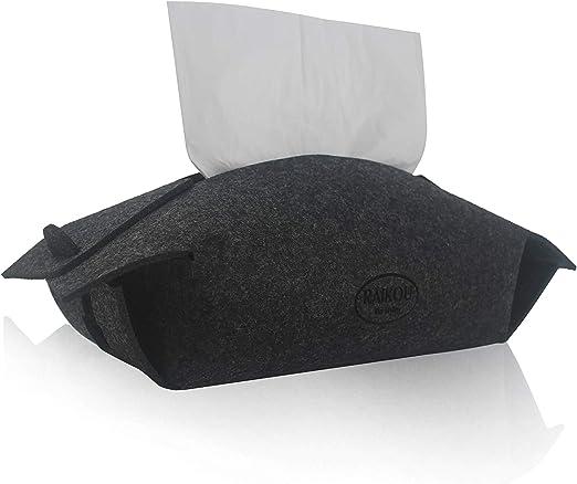RAIKOU Caja de pañuelos de Fieltro, Caja Decorativa para pañuelos ...