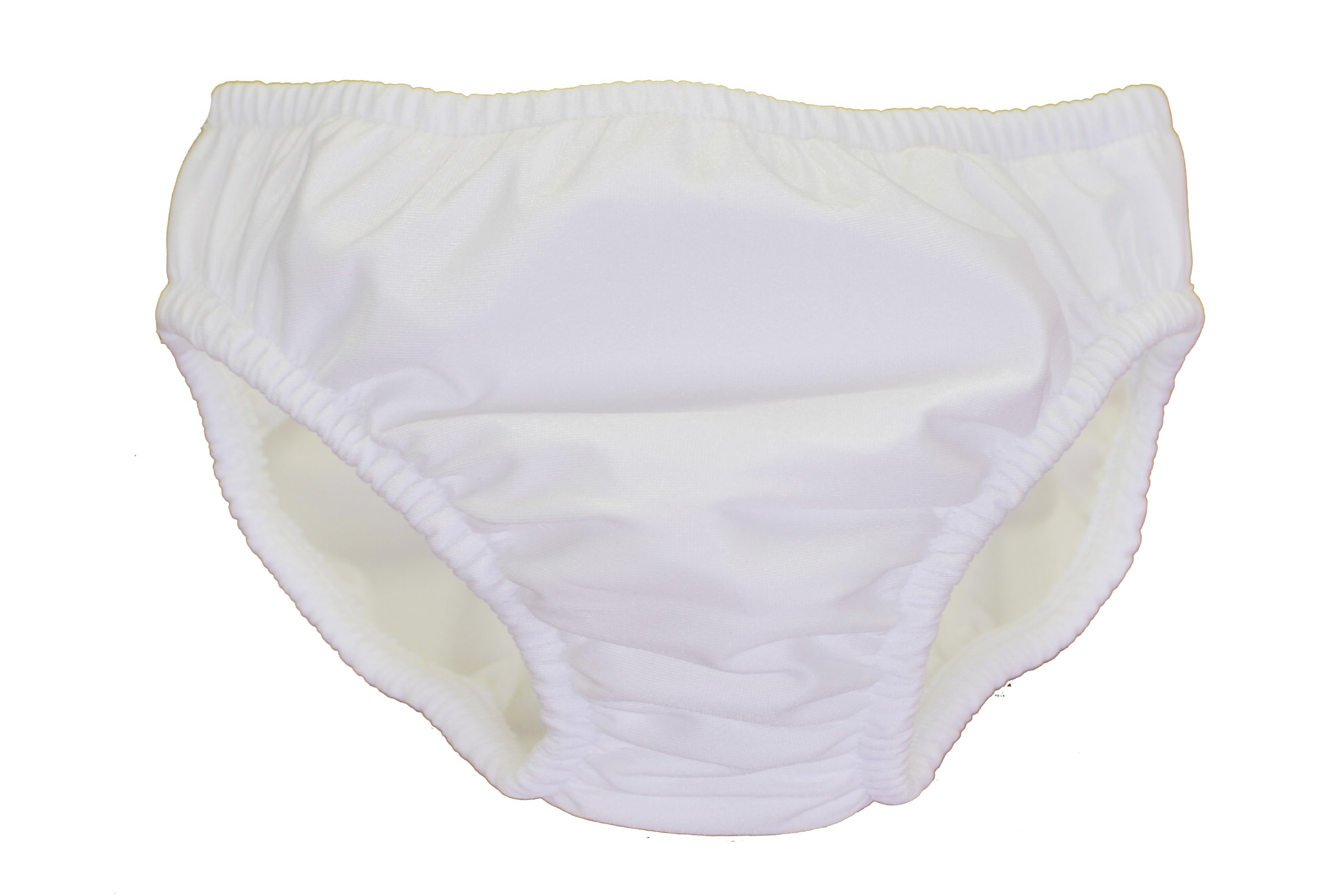 My Pool Pal Reusable Swim Diaper, White, 2T