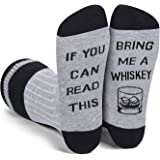Zmart Men's If You Can Read This Funny Crew Socks, Beer Wine Coffee Whisky Tea
