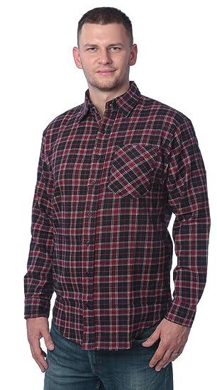 741bd5696ea3 Beverly Rock Men's Flannel Shirt- Brushed Cotton Plaid Button Down Shirt at  Amazon Men's Clothing store: