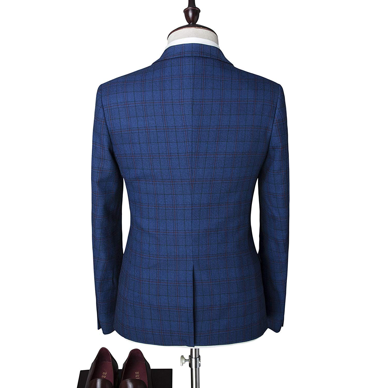 Mens One Button Designer Luxurious Suits Plaid Tuxedos 3 Piece Set Tailored Jacket With Twin Buttons At Amazon Clothing Store