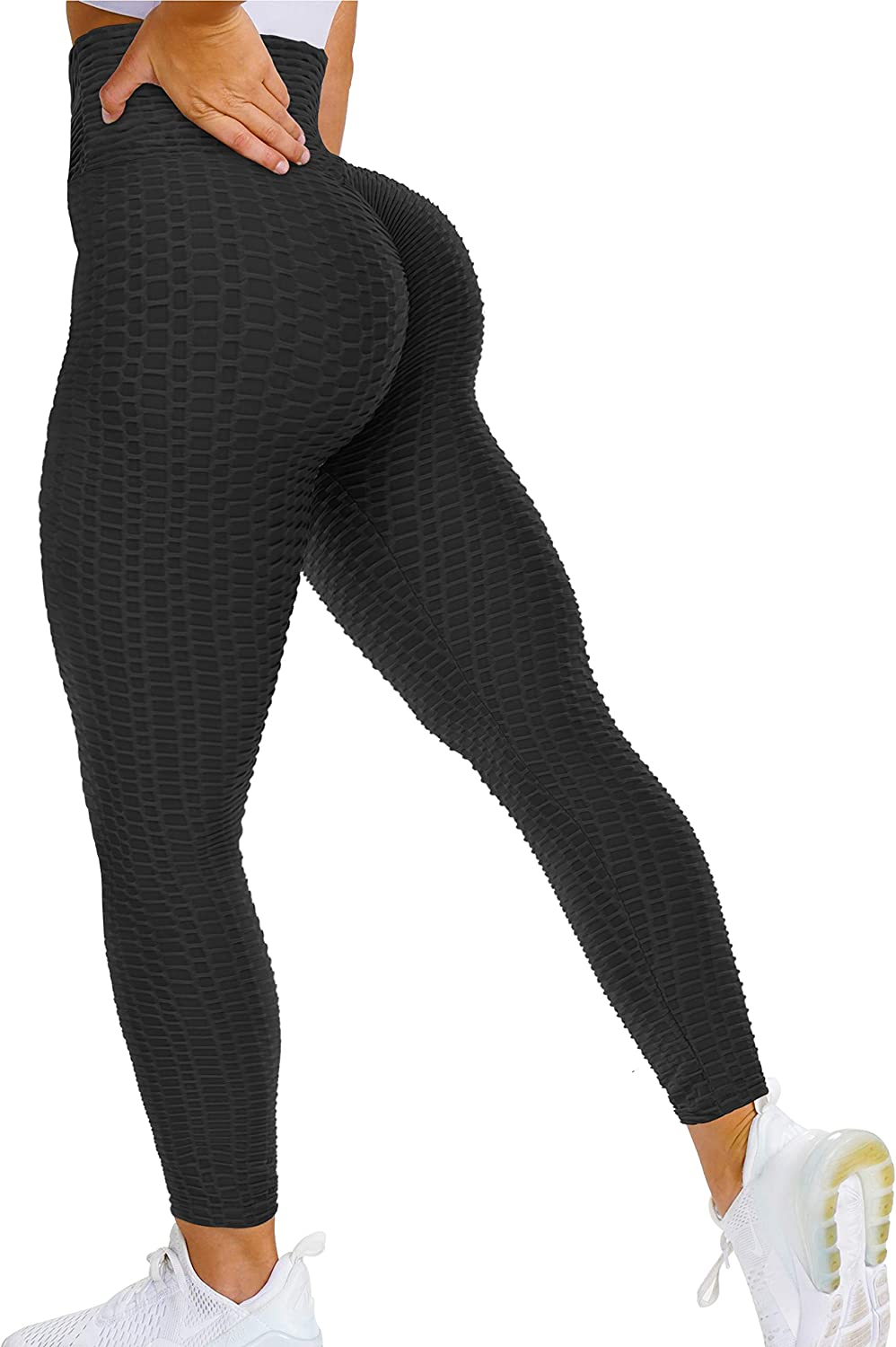 YEOREO Scrunch Butt Lift Leggings for Women Workout Yoga Pants Ruched Booty High Waist Seamless Leggings Compression Tights