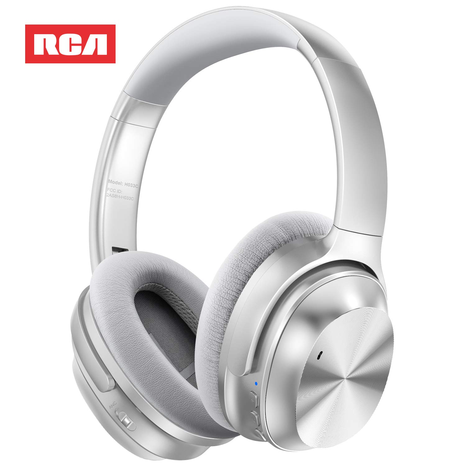 front facing RCA Active Noise Cancelling Headphones