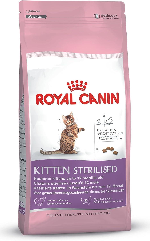 Royal Canin Comida para gatos Kitten Sterilised 400 Gr: Amazon.es ...