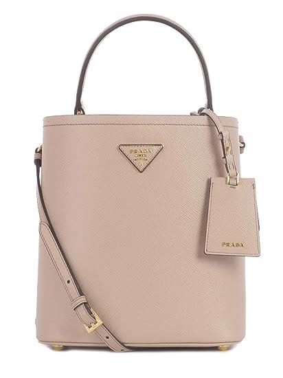 de69199192c8 Prada Women s 1Ba2122erxf0udw Beige Leather Handbag  Amazon.co.uk  Clothing
