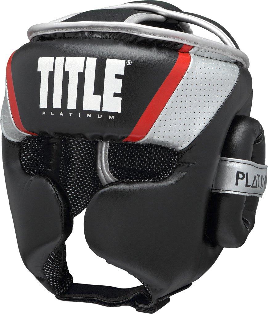 タイトルPlatinum Primetime Headgear ブラック/シルバー Large