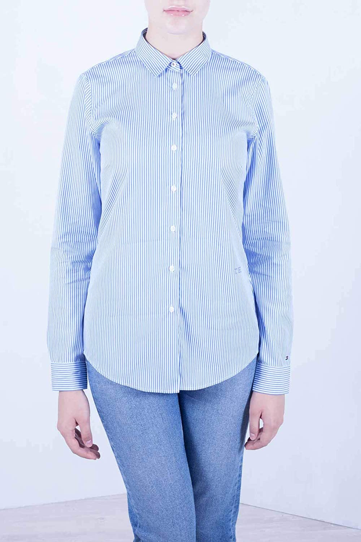 Calvin Klein Camicia Donna Blu (Soft We Stp Yd / Ultramarine 492)