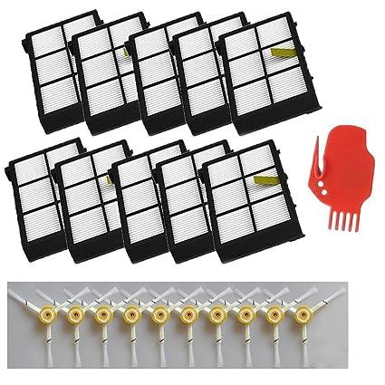LOVE(TM)10 x 10 Filtro HEPA y cepillo lateral x 3-armado