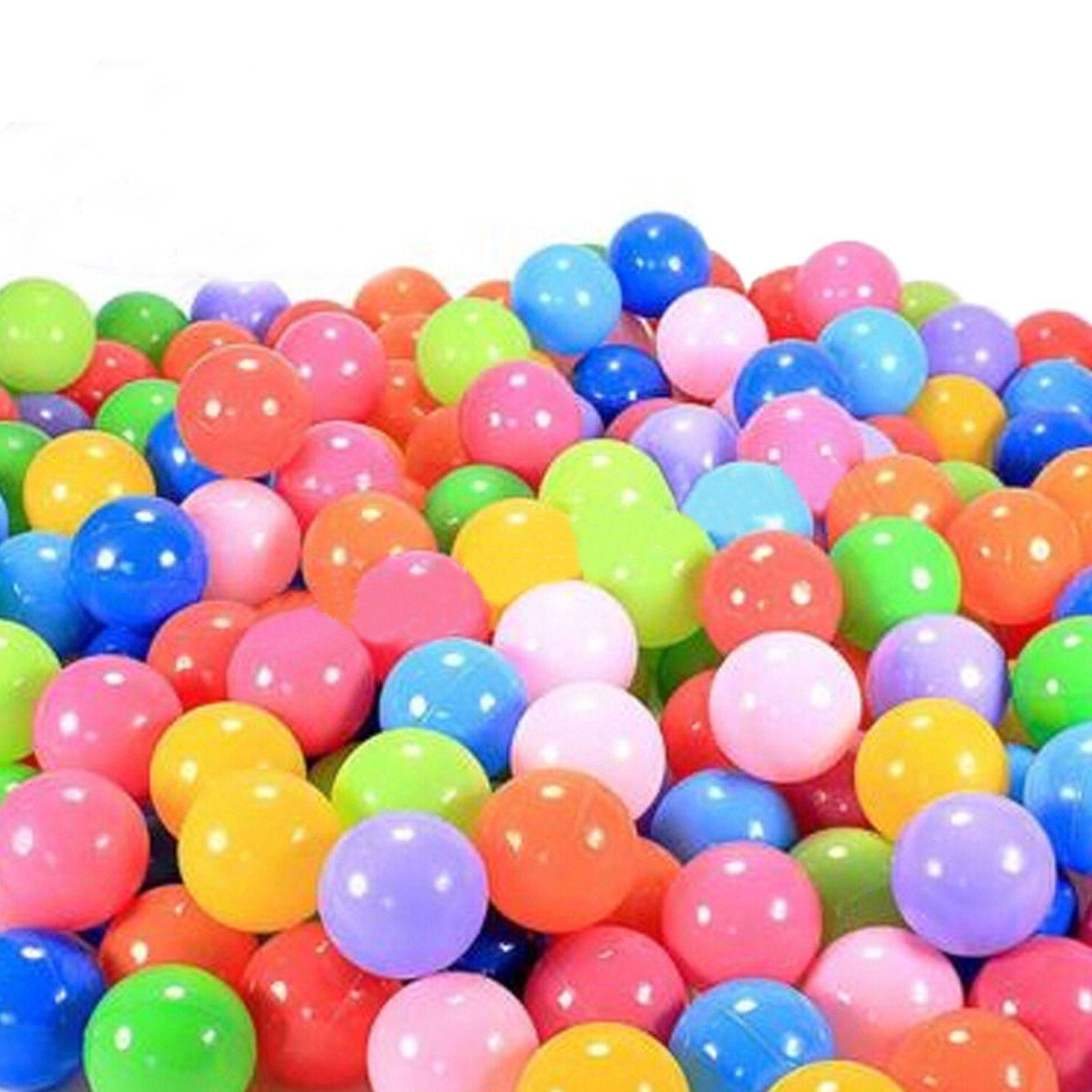 toyofmine Ocean Balls Baby Kid Swim Pit Toy Colorful Soft Plastic Bulk Pack (50-1000 pcs) by toyofmine (Image #1)