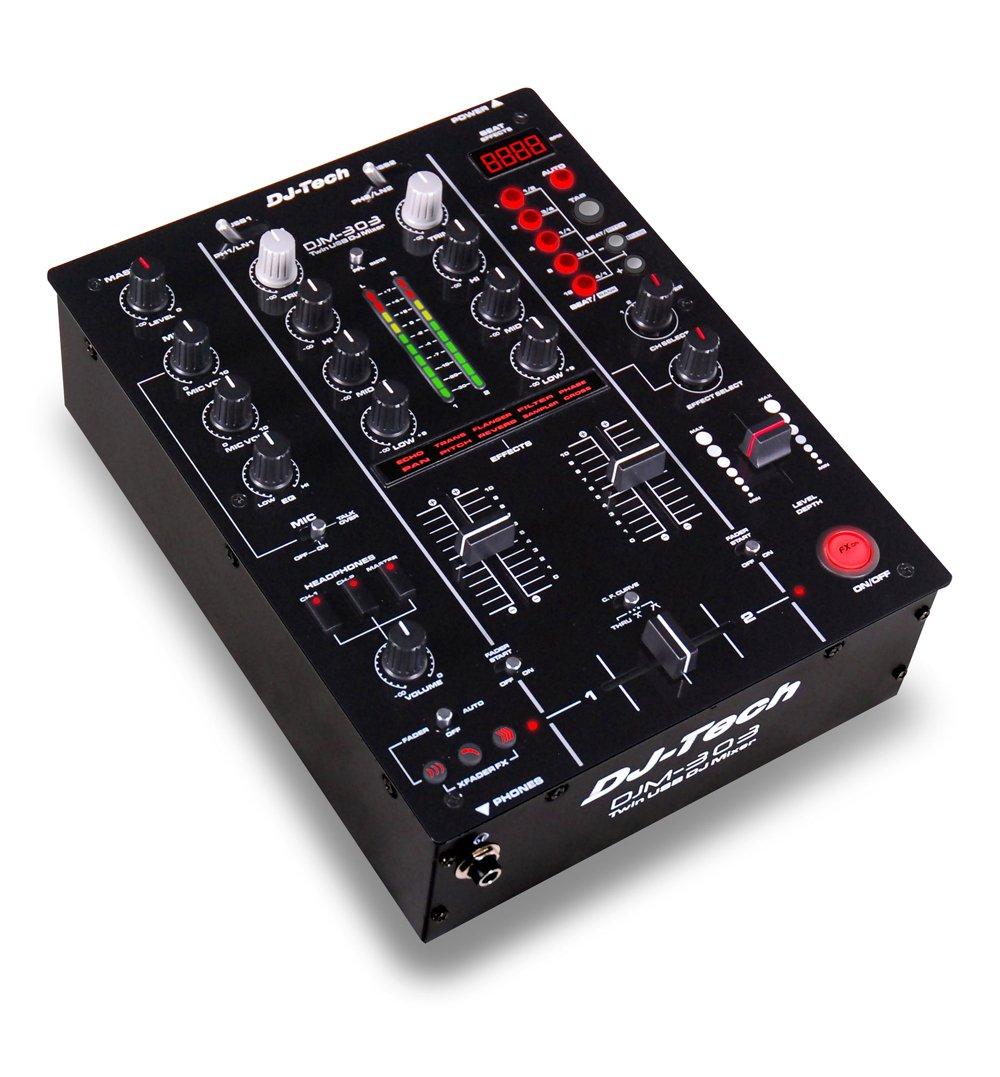 DJ TECH DJM-303 - Mesa de mezclas (tipo DSP, 2 canales), color ...