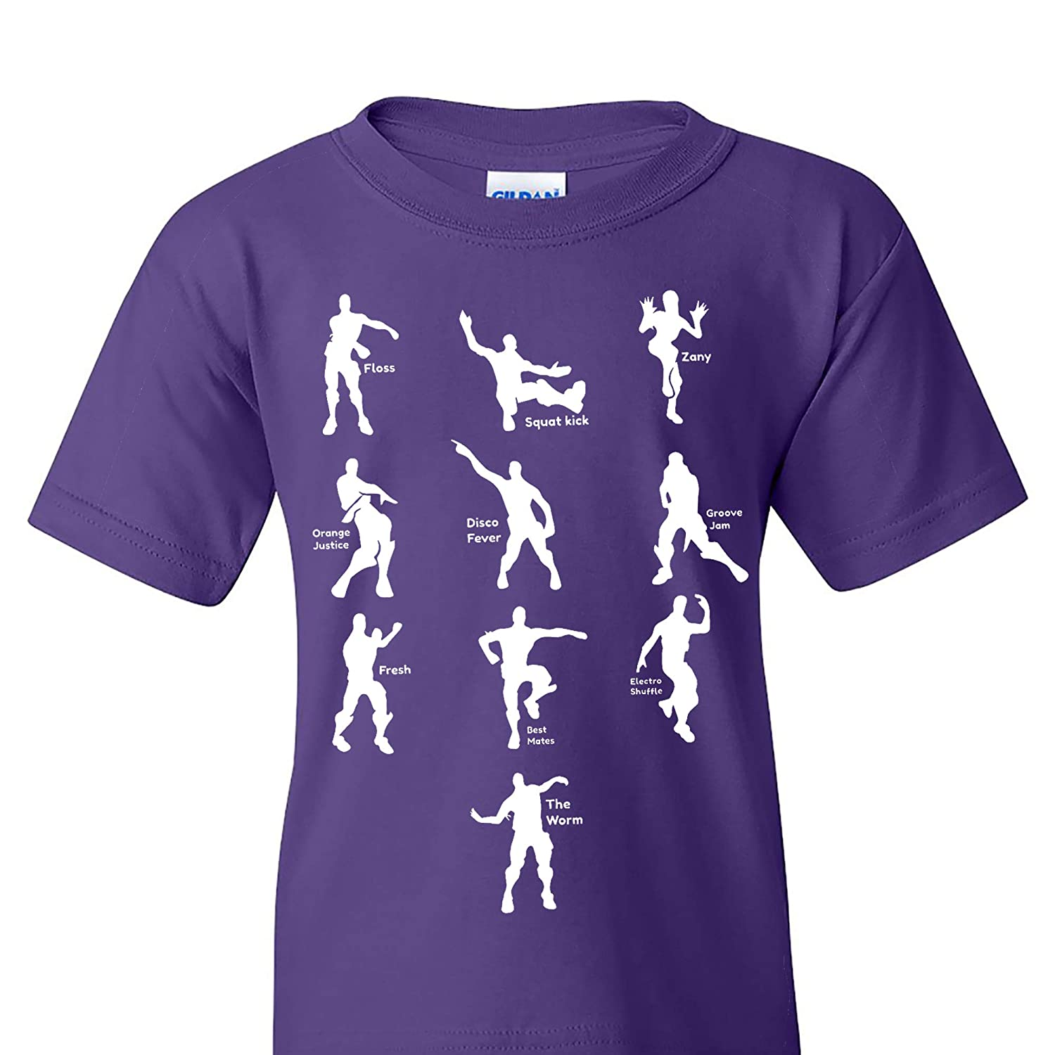 UGP Campus Apparel Emote Dances - Funny Gaming Parody Video Game Youth T Shirt 20180810B-015