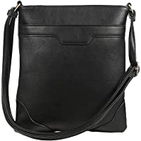 Multi Pocket Crossbody Bags for Women Crossover Bag Functional Travel Purse Large Crossbody Purse Over Shoulder Bag