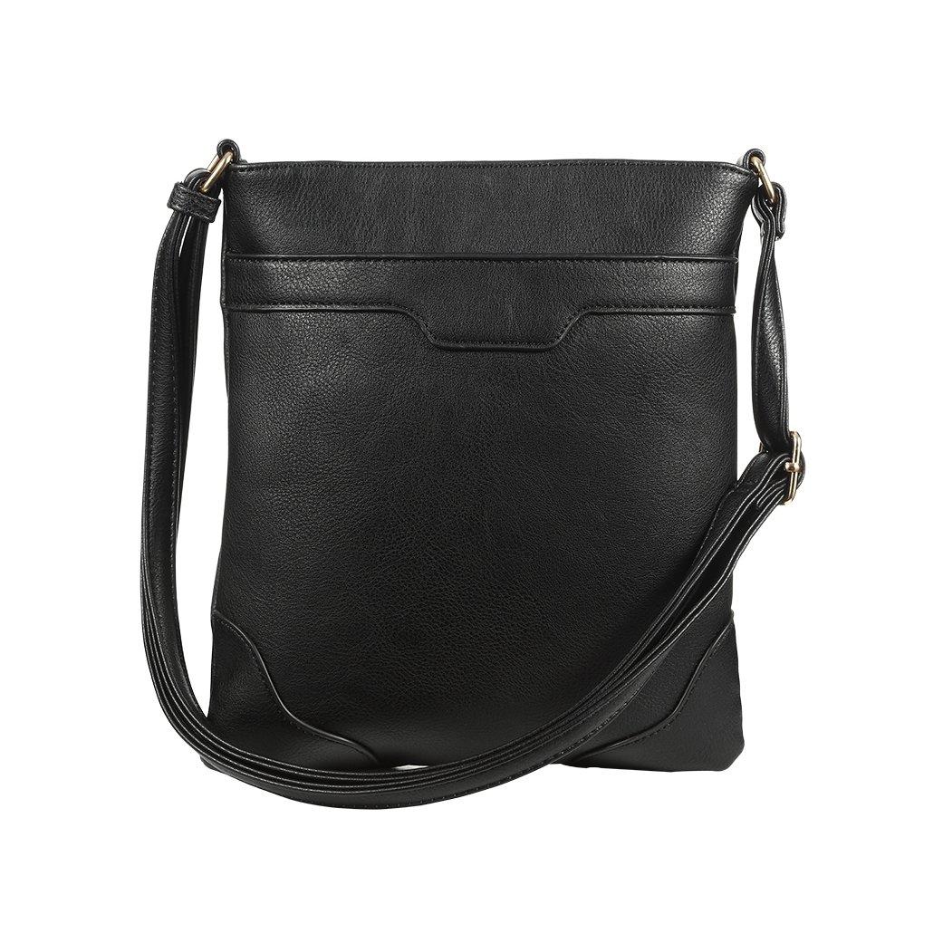 4bc63f5eb42e Multi Pocket Crossbody Bags for Women Crossover Bag Functional Travel Purse  Large Crossbody Purse Over Shoulder Bag, Black: Handbags: Amazon.com