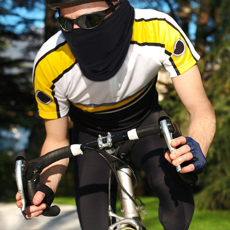Elastico Traspirante Vento Prova Wanme 3 Pezzi Il Collo Bandana Scaldacollo Moto Ciclismo Fasce Copricapo Multifunzione Passamontagna Maschera UV Protezione Collo Sciarpa