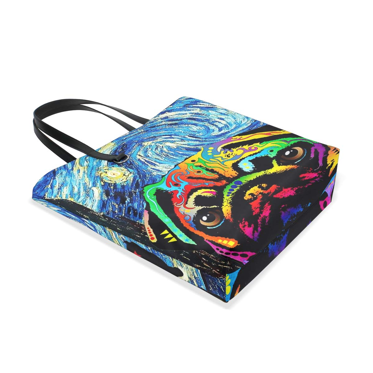 Thin Blue Line Flag Tote Bag Reusable Beach Weekender Travel Luggage Totes
