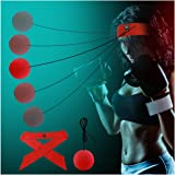 OLIISS Boxing Reflex Fight Ball with Headband for Hand Eye Coordination Training, Elastic & Soft, Boxing Speed Ball Training to Improve Reactions & Speed, Balance Capacity & Boxing Fight Skill
