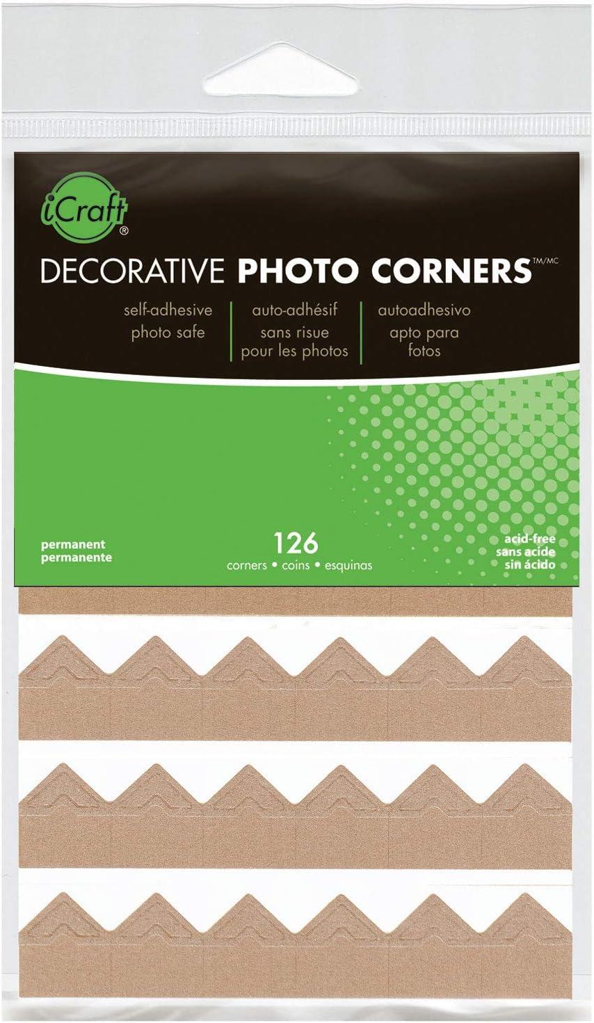 iCraft Decorative Photo Corners Self Adhesive Gold