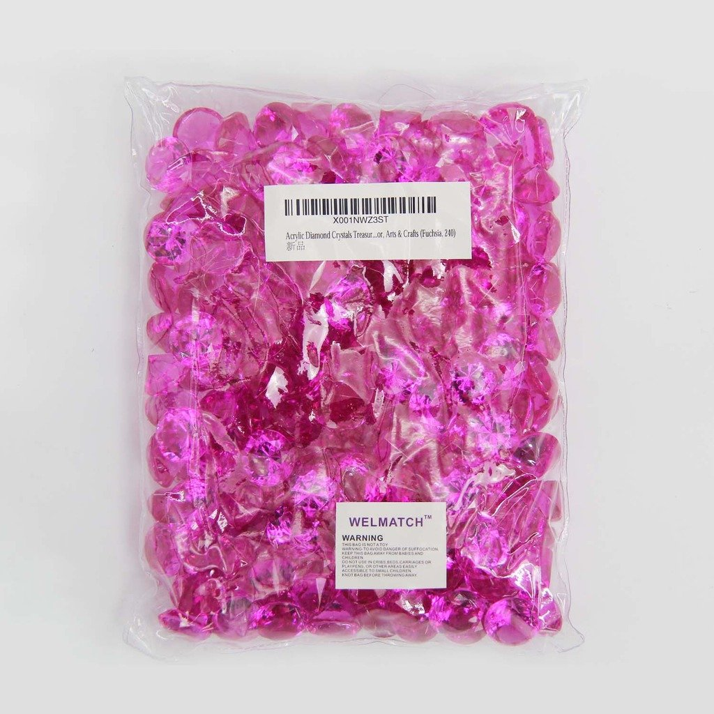 240 pcs 3//4 Inch Wedding Party Event Banquet Birthday Decoration Crystals Gem Table Scatters Fuchsia Acrylic Diamond Vase Fillers 1 Pound Fuchsia, 240 pcs