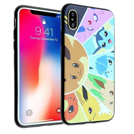 cheap for discount be9e3 d8c4a iPhone X Case, DURARMOR FlexArmor iPhone Xs Case Anime Eevee Jolteon  Flareon Vaporeon Flexible TPU Bumper Case Ultra Slim ScratchSafe Drop  Protection ...