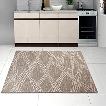 Sisal Rug Beige Taupe Champagne Modern Abstract Pattern Living Room Dininng  Room Kitchen Very Durable Oeko