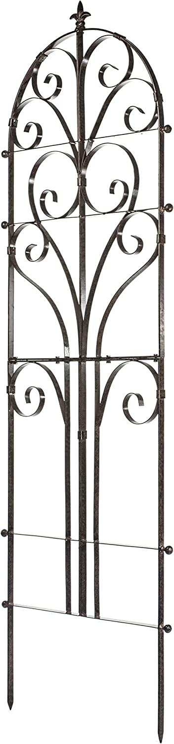 H Potter Italian Iron Garden Plant Trellis Metal Weather Resistant Wall Art