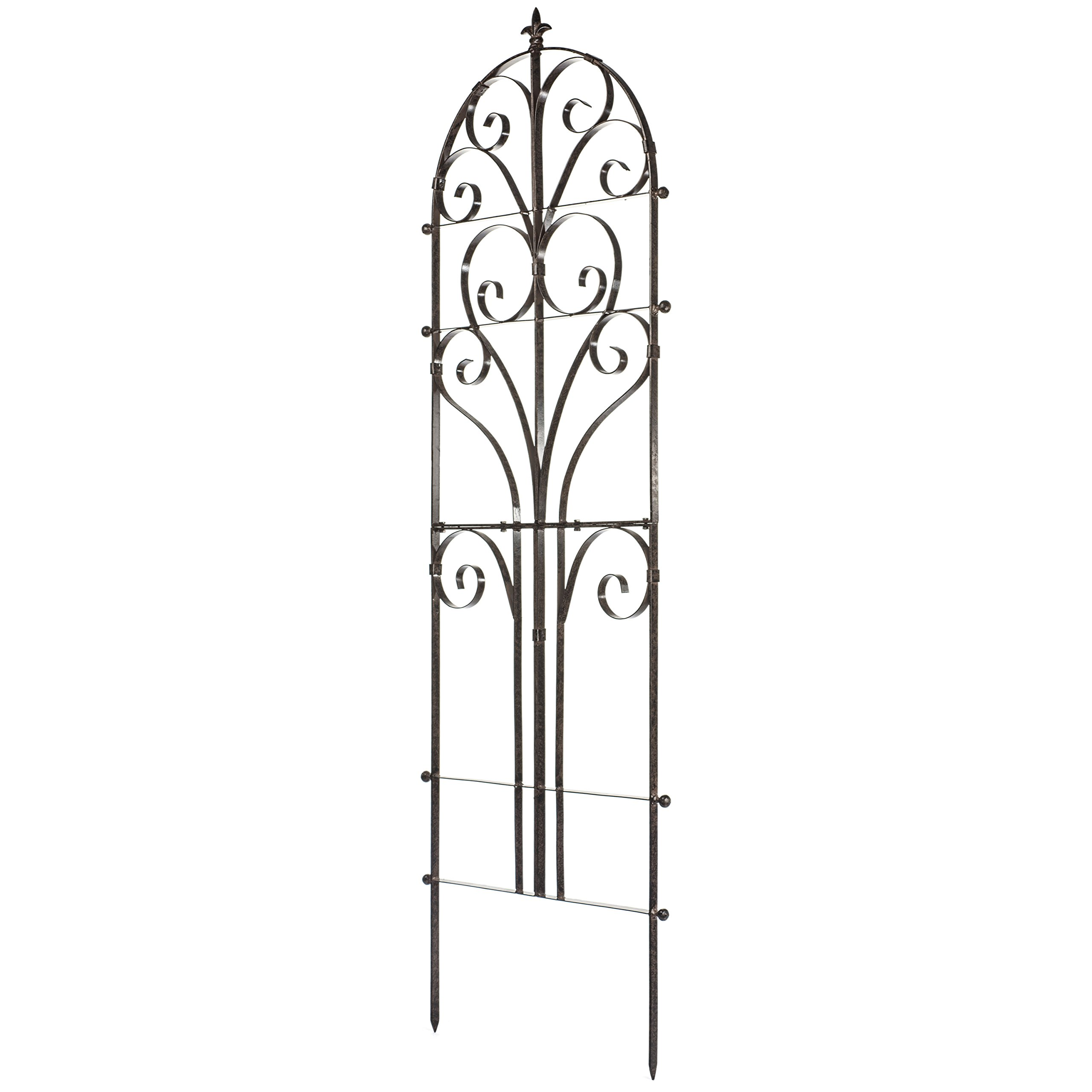 H Potter Italian Iron Garden Plant Trellis Metal Weather Resistant Wall Art by H Potter