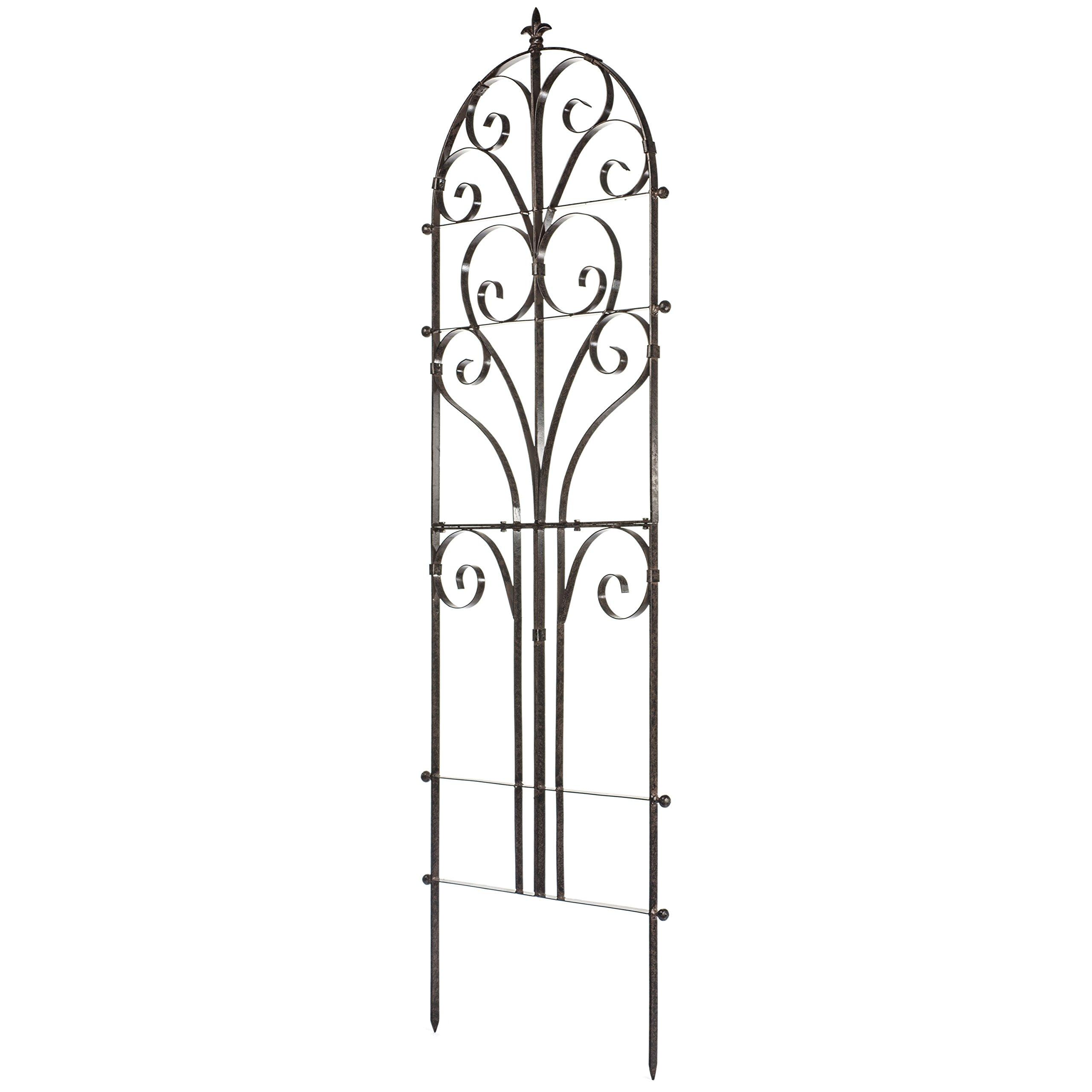 Amazon.com : H Potter Italian Iron Garden Plant Trellis Metal Weather  Resistant Wall Art : Garden U0026 Outdoor