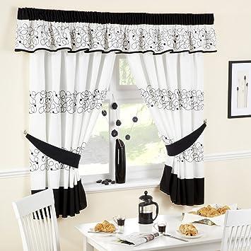 Jazz Black kitchen Curtains 66