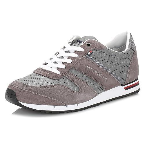 Tommy Hilfiger M2285Axwell 5C, Zapatillas para Hombre, Gris (Grey030), 44 EU: Amazon.es: Zapatos y complementos
