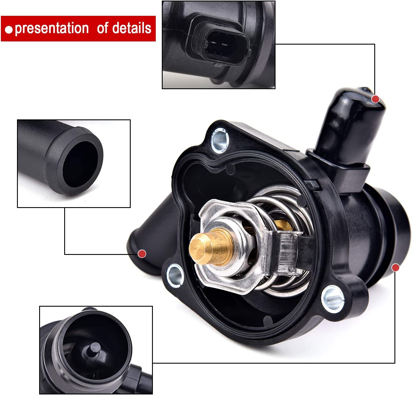 EVIL ENERGY 25200455 Thermostat Housing Assembly Fit for Buick Encore 2014-2019 Chevrolet Cruze 2015 Chevrolet Cruze Limited 2016 1.4L