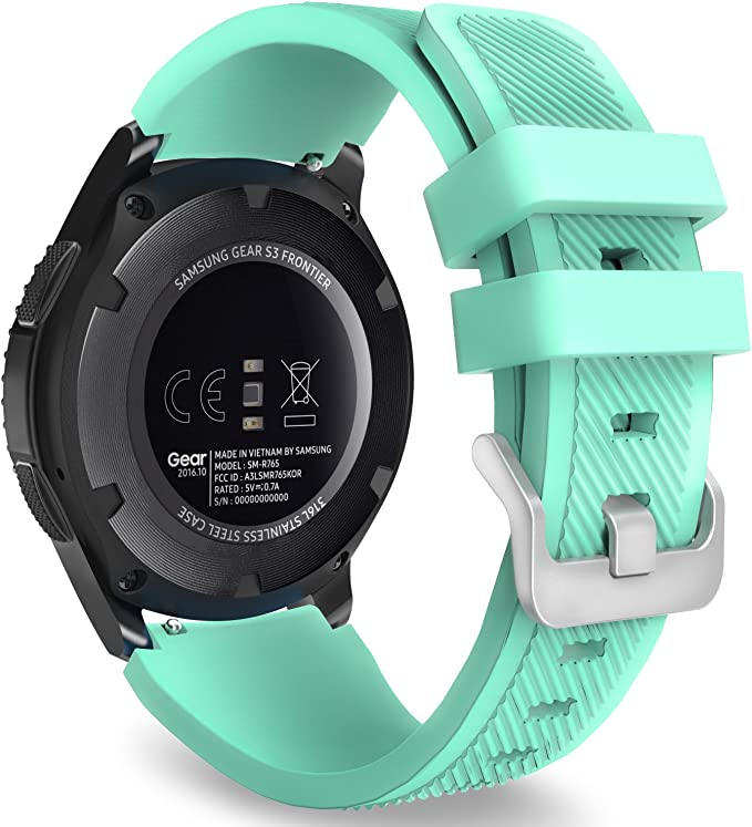 Image ofMoKo Correa para Samsung Galaxy Watch 3 45mm/Galaxy Watch 46mm/Gear S3 Frontier/S3 Classic/Huawei Watch GT/GT2 46mm/GT 2e - 22mm Watch Band Deportiva de Silicona Suave Reemplazo Band - Menta Verde
