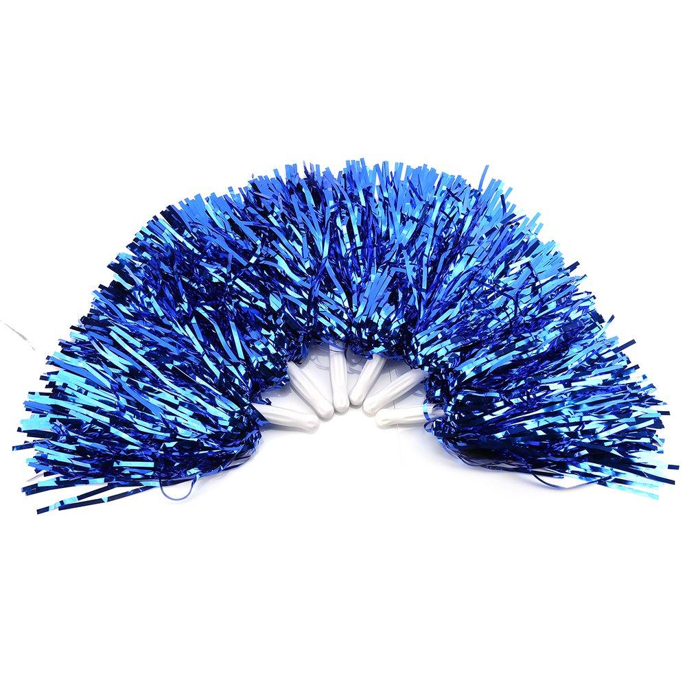 Alomejor Cheerleading Pom, 6 Stü ck Puschel-Zubehö r fü r Tanz Sport Pompoms, blau