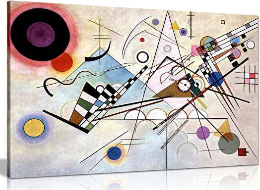 Wassily Kandinsky Composition VIII Canvas Wall Art Picture Print 36x24in