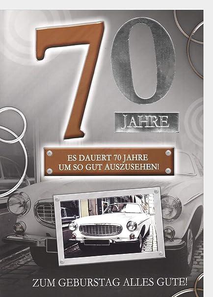 A4 XXL Geburtstagskarte Herren zum 30 Sportwagen