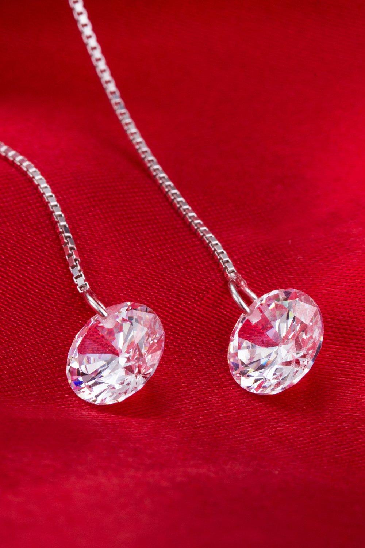KENHOI Beauty thai love you shine ear wire earrings earings dangler eardrop women girls personality elegant woman s925 sterling silver jewelry earrings unique gift by KENHOI Beauty