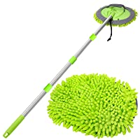 Deals on WillingHeart 63-in Car Wash Mop Brush Tool Mitt w/Long Handle