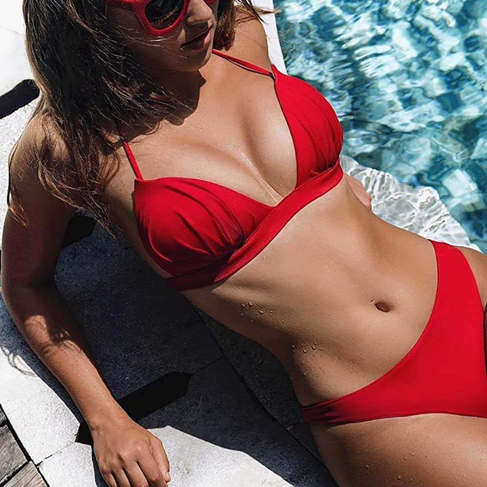 Mujer Traje De Baño con Falda, Bikini De Mujer Conjunto Sólido ...