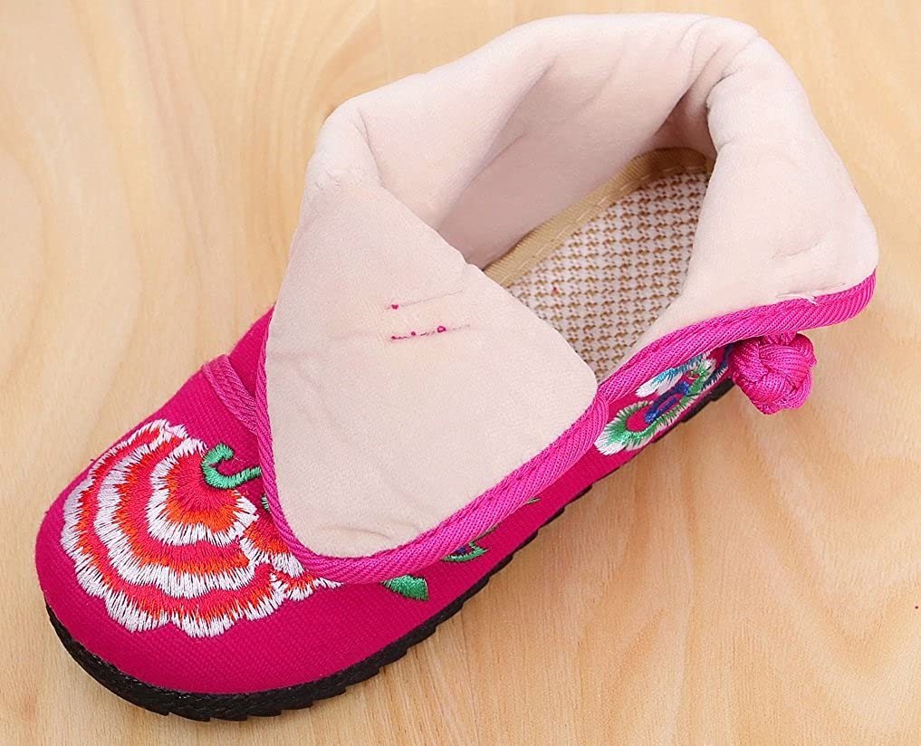 af62a190 Toddler/Kid 10-02 Tianrui Crown New Girls Sun Flower Embroidery Frog  Cheongsam Short Boots Shoes