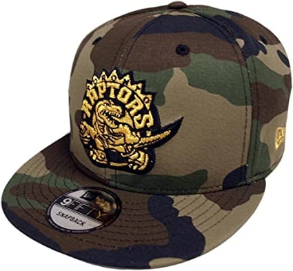 newest 471e8 35687 Image Unavailable. Image not available for. Colour  New Era Toronto Raptors  HWC Camo Gold Snapback Cap 9fifty 950 Limited Edition