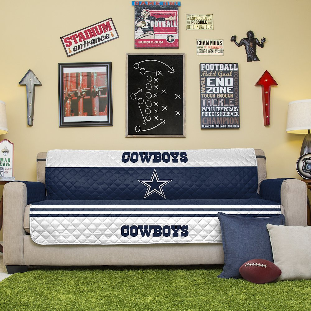 Lovely Amazon.com: NFL Dallas Cowboys Sofa Couch Reversible Furniture Protector  With Elastic Straps, 75 Inches By 110 Inches: Home U0026 Kitchen