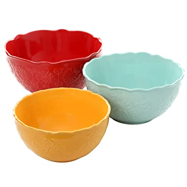 The Pioneer Woman Floral Burst Serving Mixing Bowls 3 Piece Set