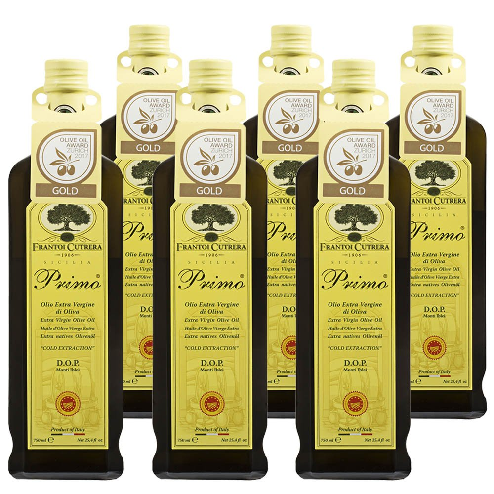 Case of 6 Primo Extra Virgin Olive Oil Monti Iblei D.o.p. 750ml by Frantoi Cutrera