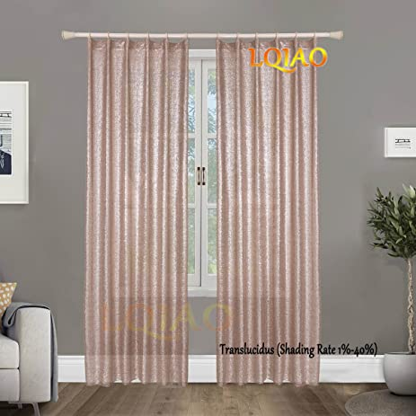 Amazon Com Hot Selling Window Champagne Sequin Curtain 50x63in