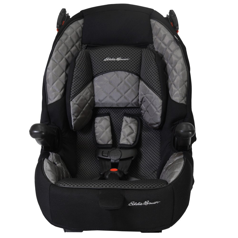 Eddie Bauer Deluxe High Back 65-Child Restraint and High Back Booster-Bolt, Grey Black 22810CCCB