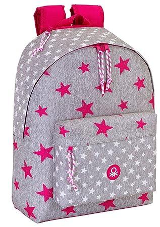 grossiste 8086e 6587a BENETTON - Grand cartable Pink Star 43 cm Benetton Ado Lycée ...