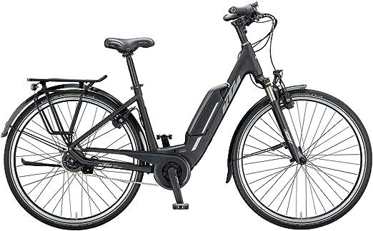 KTM Macina Central 5 XL Bosch - Bicicleta eléctrica 2020, color Negro mate/gris, tamaño 28
