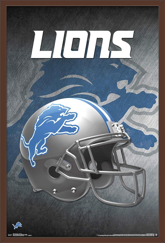 """Detroit Lions Vintage Football Poster 24/"""" x 36/"""" Matte Paper Print"""