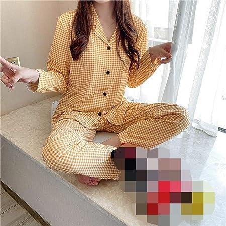 Cálidos Pijamas para Mujer,Camisas De Dormir De Algodón ...